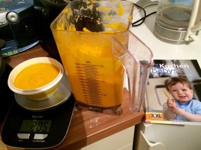 Möhrenbrei im Mixer