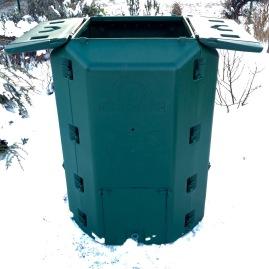 Komposter geöffnet
