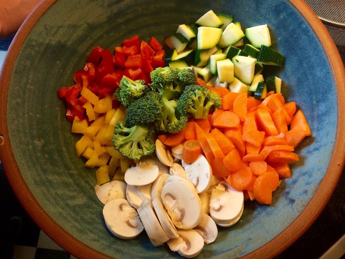 geschnittenes Gemüse